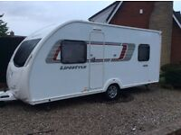 Swift Sprite lifestyle td 3,4,5 berth 2012 lightweight caranvan spacious layout with full awning