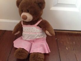 Build a Bear in pink summer outfit