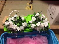 2 Bridesmaid Petal Baskets