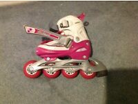 Girls roller skates, used but in very good condition, size 30-34 adjustable