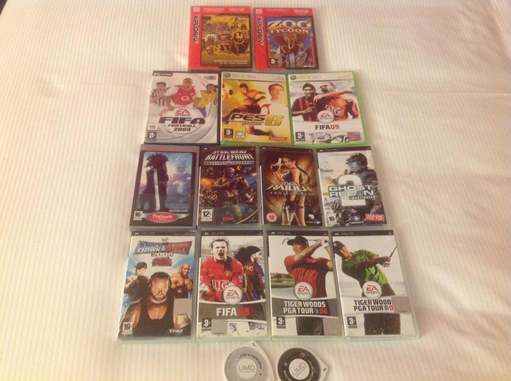 Collection of Games - PSP, XBOX 360 & PC CD-ROM