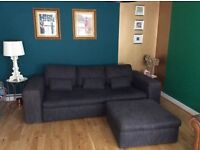Habitat sofa large 3/4 seater & footstall