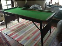 Snooker table 6x3 folding , slate bed, excellent condition