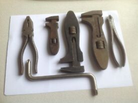 Vintage spanners, pliers, sockets ,British made.
