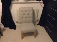 Small upholstered bedroom chair