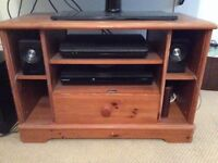 Wooden tv stand with draw