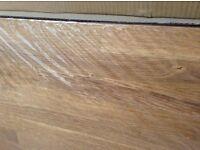 Solid wood oak kitchen worktop