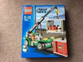 Lego city crane and cargo boxes