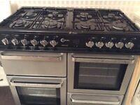 Flavel dual fuel 8 burner cooker/ extractor fan