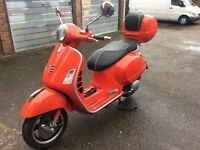 Vespa gts125/300ie super 2016/66 reg 195 miles only