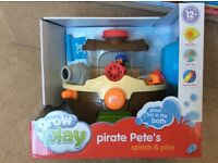 Pirate Pete's Splash and Play, by Grow&Play. Brand new bath toy, unopened in box.