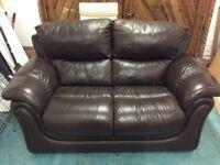 Italian Leather 2 Seater Sofa.