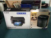 Canon MG4250 printer and Fellowes shredder