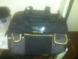Stanley fatmax tool bag with pockets and hard base