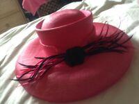 Beautiful pink wedding hat