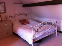 Large furnished Attic room available Monday to Friday .