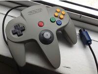 [TIGHT STICK] Official Nintendo 64 controller in grey - clean