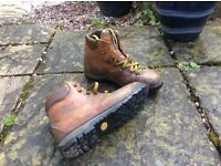 Men's scarpa leather walking boots . Size 45, but are on the small side