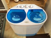 Caravan or boat washing machine.
