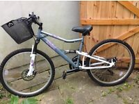 Mountain bike - great condition. 16 gears & suspension. Quick sale!!!