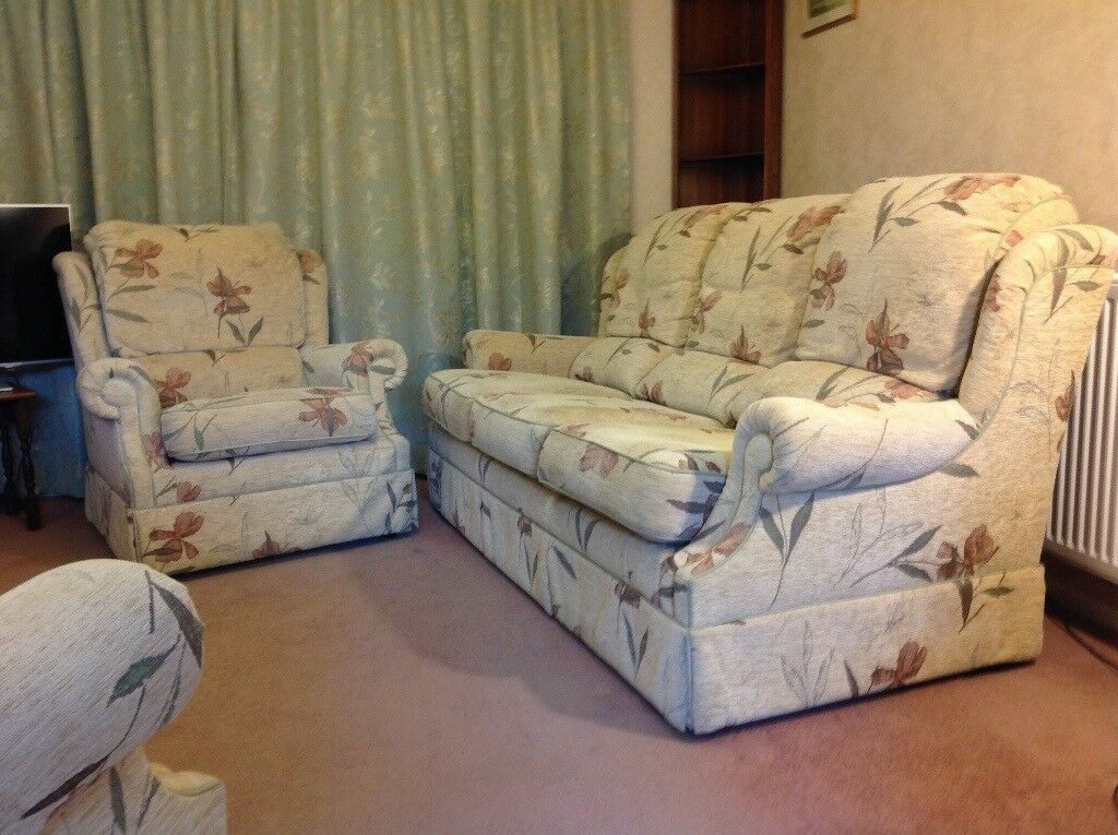 3 Piece Lounge Suite G Plan Sofa And Armchairs
