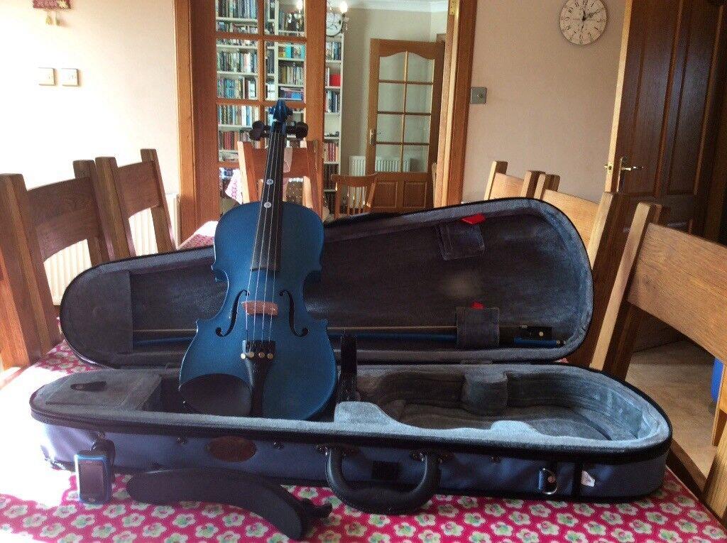 Stentor Harlequin blue violin 3/4 size