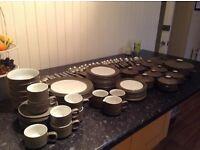 Denby Chevron (Green)Tableware 88 items