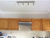 4 kitchen wall units plus cooker hood