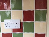 Wall Tiles - Wavy Edge - for splash back in kitchen or cloakroom