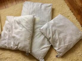 M&S white Cushion pads seat pads x 4 cotton blend outer collection only Leeds
