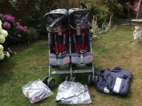 Maclaren Twin Techno Double Buggy. Excellent condition.