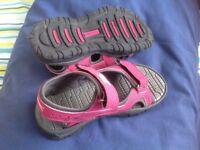 Slazenger pink sandals size 13 brand new