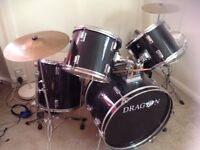 Dragon junior 7 piece drum set