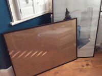 2 black poster frames 70x100cms plexi