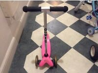 Pink Micro Mini Scooter