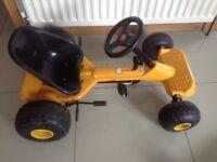 Yellow and black children's go cart