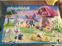 BNIB playmobil fairies and unicorn set
