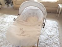 Mamas and Papas Moses baskets and stands x 2 immaculate condition, neutral colours