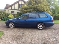 Low mileage A1 condition Peugeot 406 estate, leather trim and tow bar. 2 previous owners. £750 mot