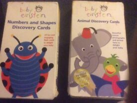 Baby Einstein animal & numbers and shapes discovery cards