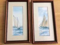 2 x Prints. Brixham Trawler and Cornish Oyster Boat.
