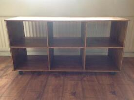 Homebase Wooden Storage unit (holds 6 curver boxes)