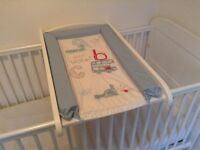 Cot top changer. With musical mobile & matching changing Matt.