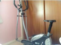 Combined excercise bike and cross trainer