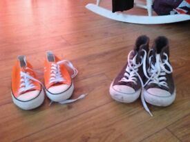2 pairs of converse for sale