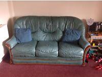 Italian 3 piece suite (leather)