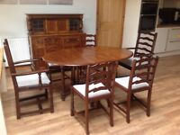 Dining Table Chairs Sideboard Unit