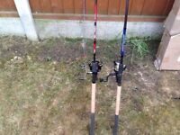 Fishing feeder rods x2 brand new with reels