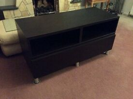 Ikea Brown/black TV unit