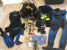 Full set of scuba diving equipment for sale.